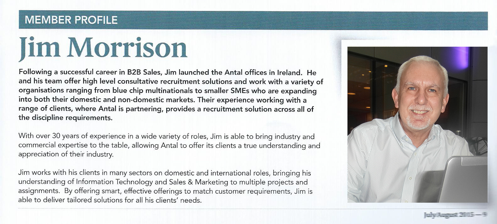 Jim-Morrison-Northern Ireland Institute of Directors magazine-July-2015